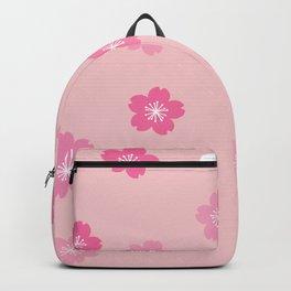Cheery Cherry Blossom Print Backpack