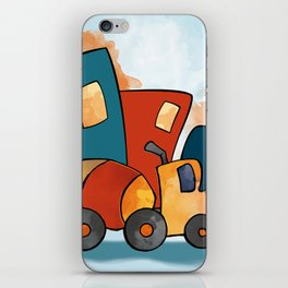 Cement Mixer, Construction Truck, Perfect for Child's Bedroom or Kid's Playroom iPhone Skin