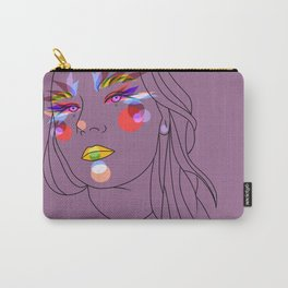 Girl in violet Carry-All Pouch