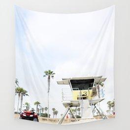 San Diego Beach Lifeguard Hut Wall Tapestry