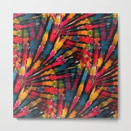 Hippy Spirit Tie Dye Metal Print