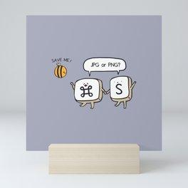 Save the bees jpg Mini Art Print