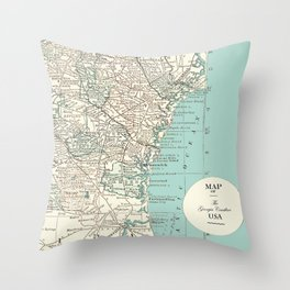 Th Georgia Coastline Throw Pillow