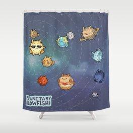Planetary Blowfish Shower Curtain
