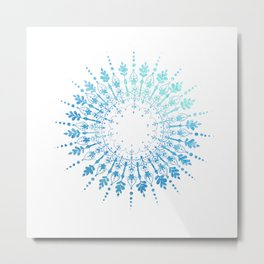 Dive Mandala Metal Print