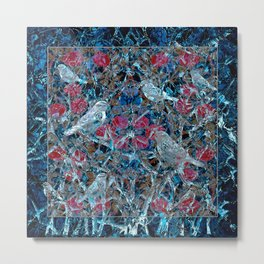 Little Birds and Roses Metal Print