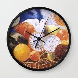 """Naturaleza Viva"" Living Nature Still Life Portrait by Frida Kahlo Wall Clock"