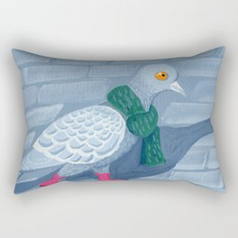 Pigeon in the city Rectangular Pillow