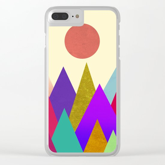 Abstract #441 Clear iPhone Case