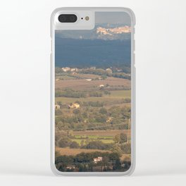 Italian countryside landscape Clear iPhone Case