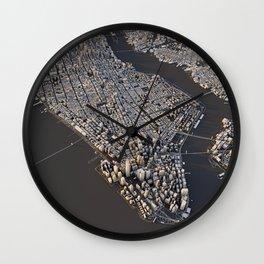 Manhattan - city map Wall Clock