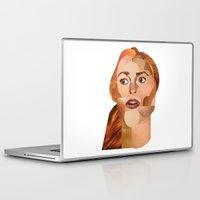 lindsay lohan Laptop & iPad Skins featuring Lindsay Lohan  by Rebecca Singer Illustration