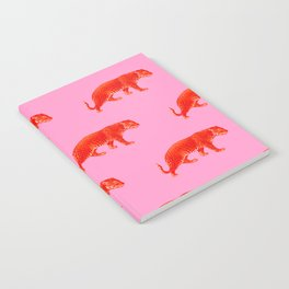 Vintage Cheetahs in Coral + Red Notebook
