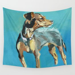 Mabel Jane the Marvelous Mystery Mutt Wall Tapestry
