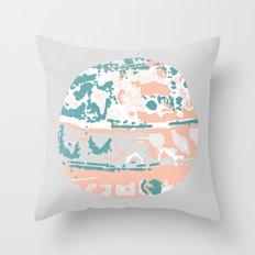 Pastel Pom Pom Throw Pillow