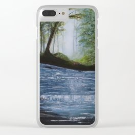 Waters Flow Clear iPhone Case