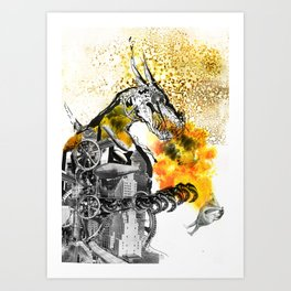 The dynamo and the virgin Art Print