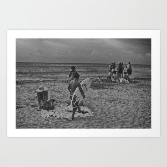 Surf life Art Print