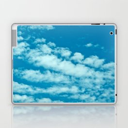 Beautiful blue sky and fluffy clouds Laptop & iPad Skin