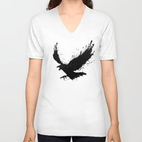 raven V-neck T-shirts featuring Raven by Nicklas Gustafsson