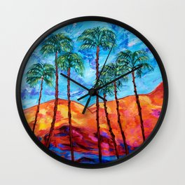 California Palm Trees Wall Clock