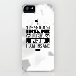 """""""Girl with the Dragon Tattoo"""" Typography Poster iPhone Case"""