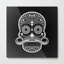Black Skull  White Suits Metal Print