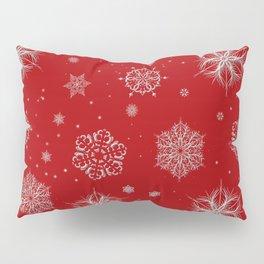 Silver snowflakes Pillow Sham