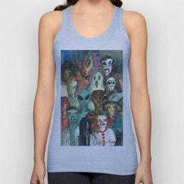 monsters watercolor squad Unisex Tank Top