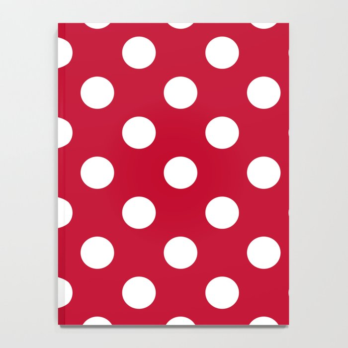Red and Polka White Dots Notebook