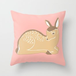 White-Tailed Deer Fawn Throw Pillow