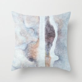 stained fantasy snowy highway Throw Pillow