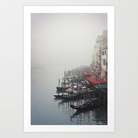 Foggy Venice Art Print