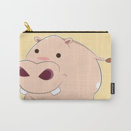 Happy Cartoon Baby Hippo Carry-All Pouch