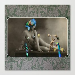 The Strongman & The Hooping Showgirl Canvas Print