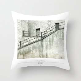 Italian Urban street view Throw Pillow