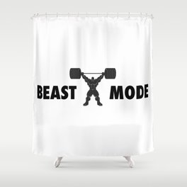 Heavy weight lifter muscle bodybuilder silhouette Shower Curtain