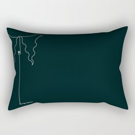Curly Collar Rectangular Pillow