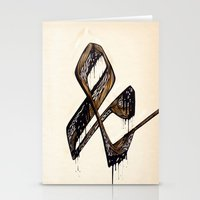 ampersand Stationery Cards featuring Ampersand by black out ronin