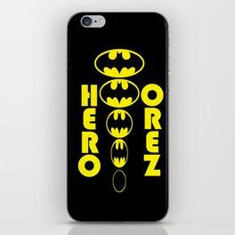 Bat Man Hero To Zero iPhone Skin