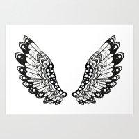 wings Art Prints featuring wings by Li-Bro