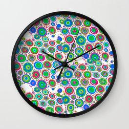 Colorful circles 1 Wall Clock