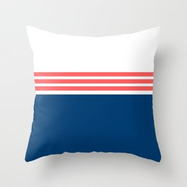 Modern Minimal Striped Blue 10 Throw Pillow
