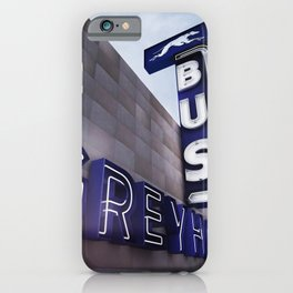 GREYHOUND BUS STATION COLOR iPhone Case