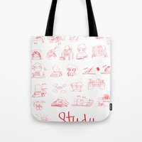 study Tote Bags featuring Study... by David Nuh Omar