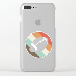 Football Contact Team Sports Rugger Retro Vintage Rugby Player Gift Clear iPhone Case
