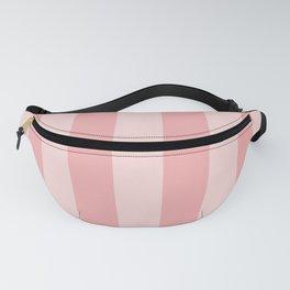 Large Blush Pink Beach Hut Stripes Fanny Pack