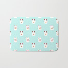 Lucky happy Japanese cat pattern Bath Mat
