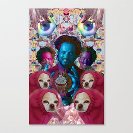 giorgio tsoukalos and his worm doggos Canvas Print