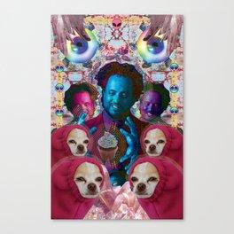 giorgio tsoukalos and his worm doggos Canvas Print
